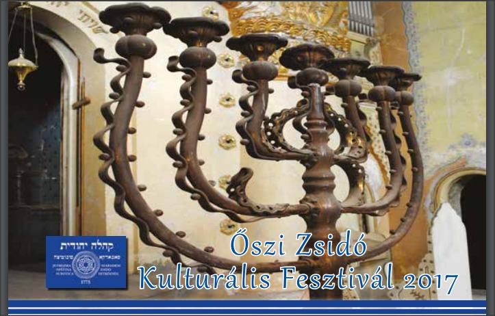 Őszi Zsidó Kulturális Fesztivál 2017 PROGRAM